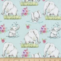 "Exclusive Fabric Editions 36"" x 42"" Pre-Cut Elephant Joy Flannel Flannel"