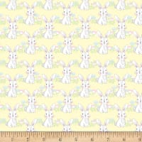 "Exclusive Fabric Editions 36"" x 42"" Pre-Cut Bunny Yellow Cotton"