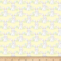 "Exclusive Fabric Editions 36"" x 42"" Pre-Cut Bunny Yellow Flannel"