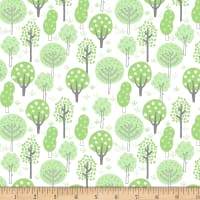 "Exclusive Fabric Editions 36"" x 42"" Pre-Cut Deer Trees Flannel"