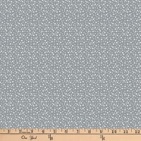 "Exclusive Fabric Editions 36"" x 42"" Pre-Cut Woods Gray Dot Cotton"