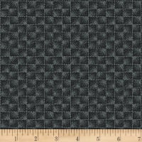 Stoffabric Denmark Square Pattern Grey and Black