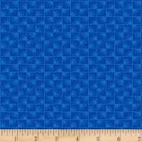 Stoffabric Denmark Square Pattern Blue and Cobalt