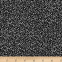 Stoffabric Denmark Dots White on Black