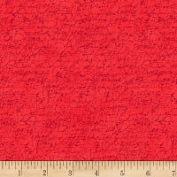 Stoffabric Denmark Red Text Red