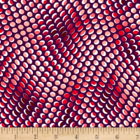 Stoffabric Denmark Colourful Dots Black/ Red and White