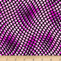 Stoffabric Denmark Colourful Dots Black/ Purple and White