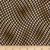 Stoffabric Denmark Colourful Dots Brown and Ochre