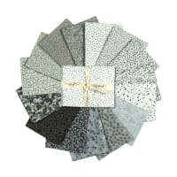 Stoffabric Denmark Quilters Coordinates 15 pc Fat Quarters White/Grey