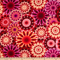 "Radiance 108"" Digital Wide Back Kaleidoscope Red"