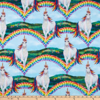 Unicorn-ocopia Digital Unicorns with Rainbows Light Blue