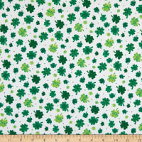 Spring Jubilee Tossed Clovers White