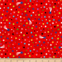 Lost In Space Multi Colored Stars Red