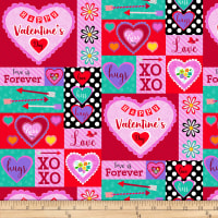 Studio E Love Is Forever Valentine Patch Red