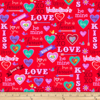 Studio E Love Is Forever Valentine Words & Hearts Red
