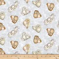 Epic Owls Small Allover Owls Off White