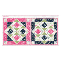 "Boho Blooms Bunny Quilt 24"" Panel Multi"