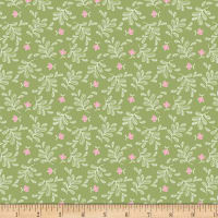 Boho Blooms Tossed Sprigs Green
