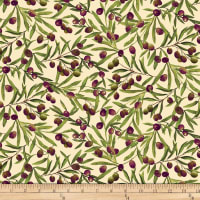 Vineyard Olive Branch Allover Green/Multi
