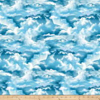 The Lightkeeper's Quilt Clouds Blue