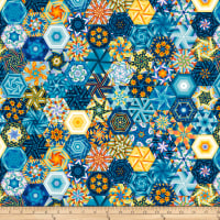 The Lightkeeper's Quilt Hexies Multi