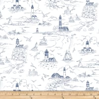 The Lightkeeper's Quilt Lighthouse Sketch White