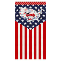 "Truckin' In The USA 24"" Flag Panel Multi Patriotic"