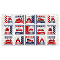 "Truckin' In The USA 7"" Blocks 24"" Panel Multi"