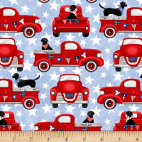 Truckin' In The USA Patriotic Trucks Red/Chambray