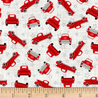 Truckin' In The USA Small Tossed Trucks Red