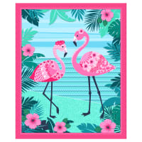 "Flamingo Beach 36"" Panel Pink"