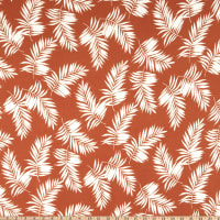Double Brushed Poly Jersey Knit Tropical Terracotta/Ivory