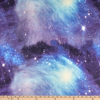 Fabric Merchants Double Brushed Poly Stretch Jersey Knit Galaxy Blue