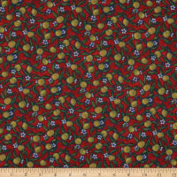 Liberty Fabrics Tana Lawn Lemon Grove Red