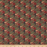Liberty Fabrics Tana Lawn Little Eustacia Burgundy/Gray