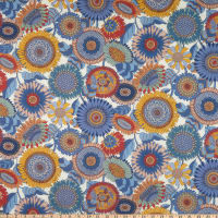 Liberty Fabrics Tana Lawn Sunflower Blue/Multi
