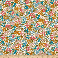 Liberty Fabrics Tana Lawn Sweet May Fuchsia/Teal