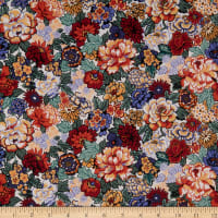 Liberty Fabrics Tana Lawn Royal Peony Orange/Yellow