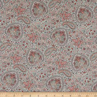 Liberty Fabrics Tana Lawn Arthur Red/Gray