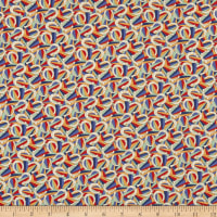Liberty Fabrics Tana Lawn Derby Day Navy/Red