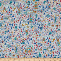 Liberty Fabrics Tana Lawn Sir Peter Blue/Multi
