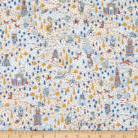 Liberty Fabrics Tana Lawn Sir Peter Navy/Multi