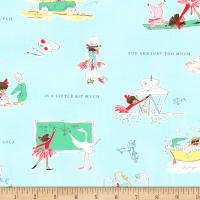 Michael Miller Fabrics Lola Dutch a Little Bit Much Cloud