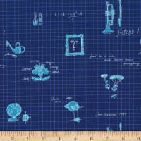 Michael Miller Fabrics Lola Dutch  Learn About Everything Navy