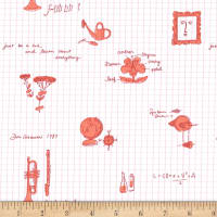 Michael Miller Fabrics Lola Dutch Learn About Everything Peach