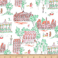 Michael Miller Fabrics Lola Dutch Lola Dutch Around Town Soft White