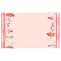 Michael Miller Fabrics Lola Dutch Border Print Lola Dutch Parade Pink