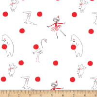 Michael Miller Fabrics Lola Dutch Lola Polka Dot Cherry