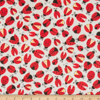 Oasis Fun Flannels Lady Bugs White