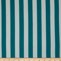 "Fabric Merchants Ponte de Roma Stretch Knit 1"" Stripe Jade/White"